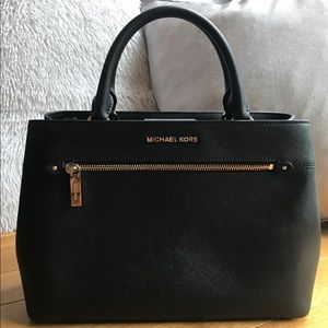 Michael Kors Medium Hailee Satchel- Black